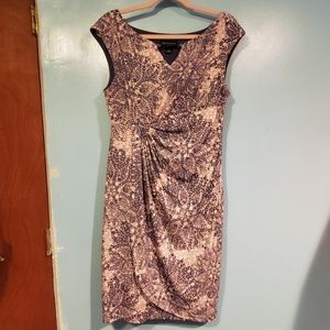 Connected Apparel   MANDALA FLORAL PRINT DRESS